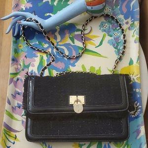 Anne klein tweed chain bag